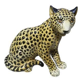 Glazed Terra Cotta Figure of a Leopard