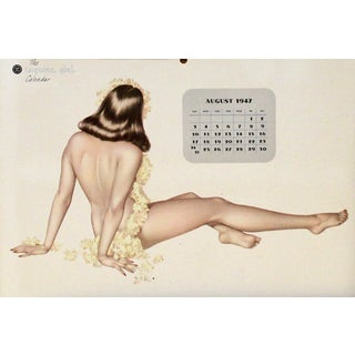 Miss August Vintage 1947 Calendar For Sale
