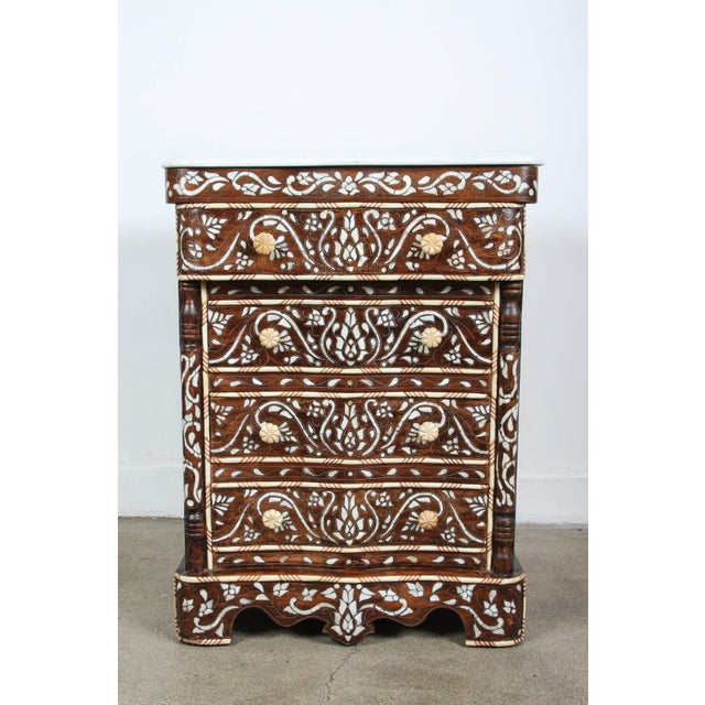 Black Pair of Syrian Mother-Of-Pearl Inlay Nightstands For Sale - Image 8 of 10
