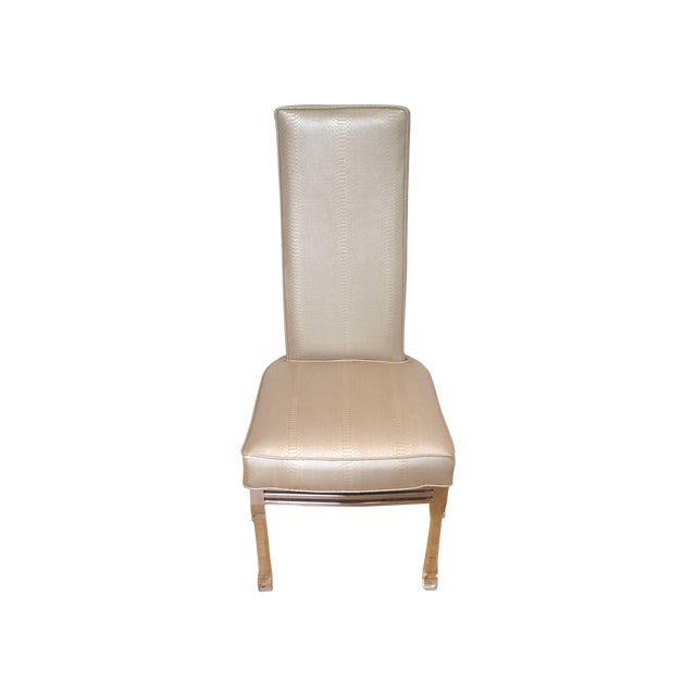 Vintage Lucite Upholstered Chairs - Set of 4 - Image 1 of 4