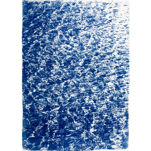 """Triptych """"The Cove"""" / Cyanotype Print on Watercolor Paper / Limited Edition / 100 X 210 CM For Sale - Image 10 of 12"""