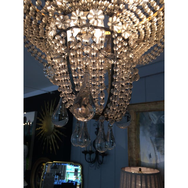 French 3 Tier Crystal Chandelier For Sale - Image 10 of 13