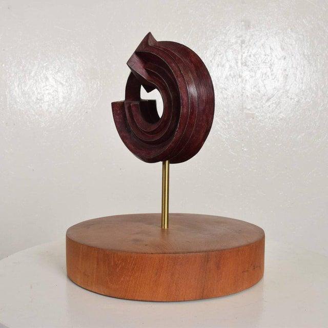 Red Modern Bronze Sculpture by Sebastian, Enrique Carbajal Gonzalez For Sale - Image 8 of 10