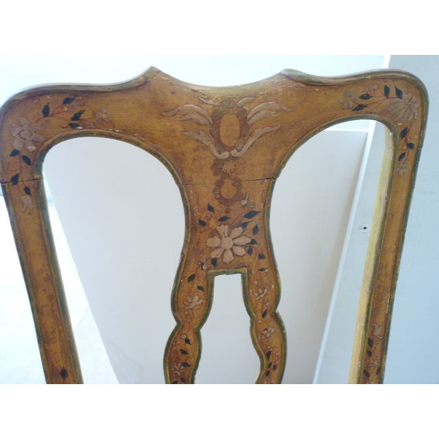 Wood Late 19th Century Antique French Painted Side Chair For Sale - Image 7 of 8