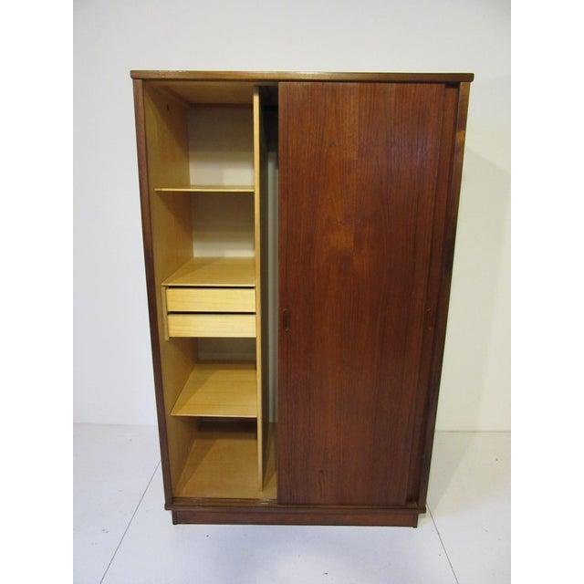 Danish Modern Mid-Century Danish Modern Teak Wardrobe / Armoire For Sale - Image 3 of 11