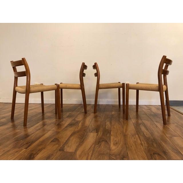 Mid 20th Century Niels Otto Møller for j.l. Møller Teak Dining Chairs, Model 84 - Set of 4 For Sale - Image 5 of 13