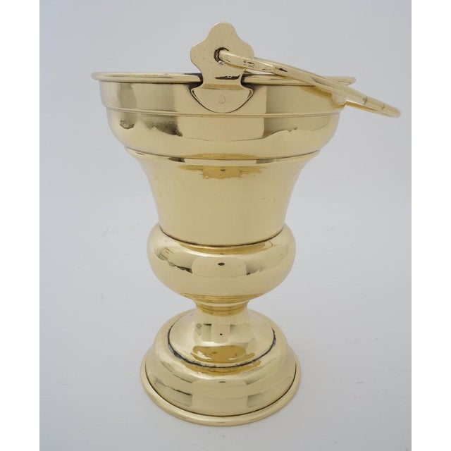 Brass Antique 19c Coal Scuttle Polished Brass for Firewood Holder For Sale - Image 8 of 13