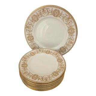 Royal Worcester Pompadour Pattern Plates - Set of 11 For Sale