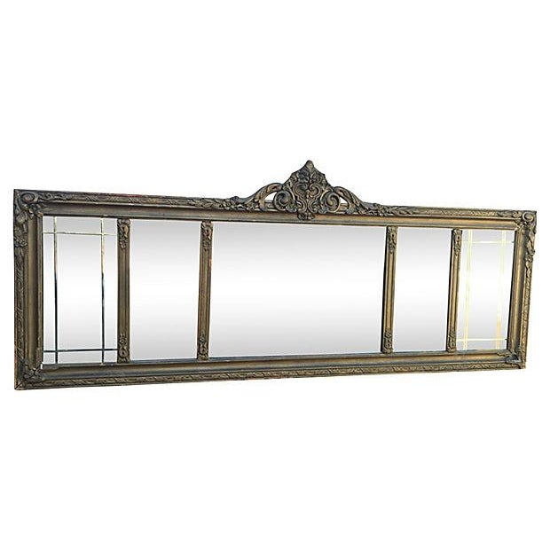 Antique Carved Wood Mantel Mirror - Image 2 of 7