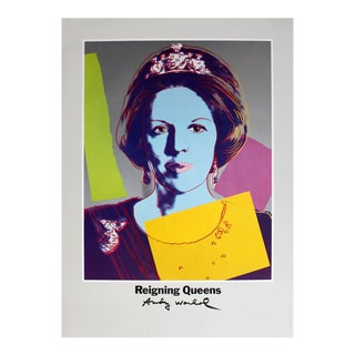 Andy Warhol, Queen Beatrix of the Netherlands, From Reigning Queens, Offset Lithograph, 1986 For Sale