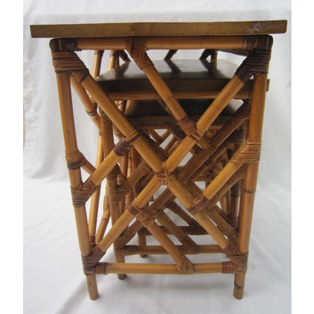 Fretwork Nesting Tables - S/3 - Image 5 of 6