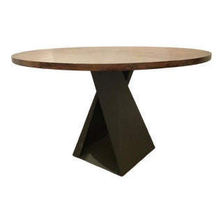 Darryl Carter for Baker Industrial Modern Fold Dining Table For Sale