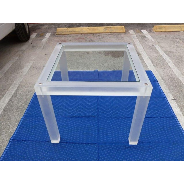 1970s Vintage Space Age Lucite Card Table For Sale In Miami - Image 6 of 12