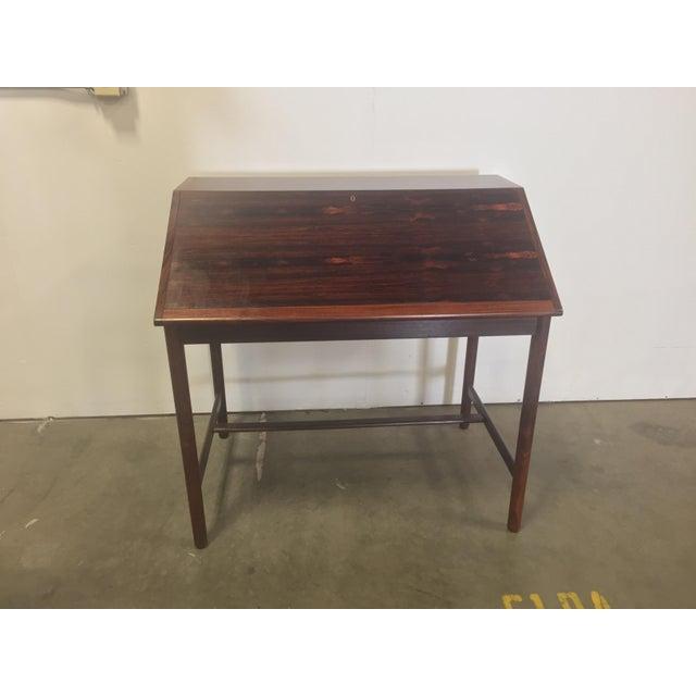 1960s Mid-Century Torbjørn Afdal Rosewood Secretary Desk For Sale - Image 5 of 9
