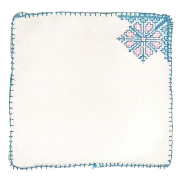 Fez Tray Needlepoint Linen & Napkins - Set of 7 For Sale - Image 4 of 4