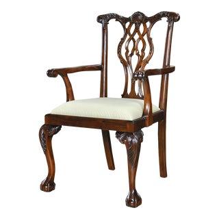 Shellback Mahogany Arm Chair For Sale
