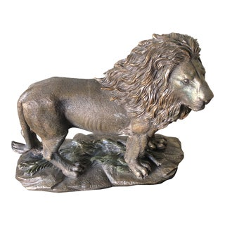 1980s Vintage Lion Figurine For Sale