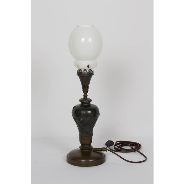 Mid 19th Century Vintage Meiji Japanese Bronze Gas Lamp For Sale - Image 12 of 12