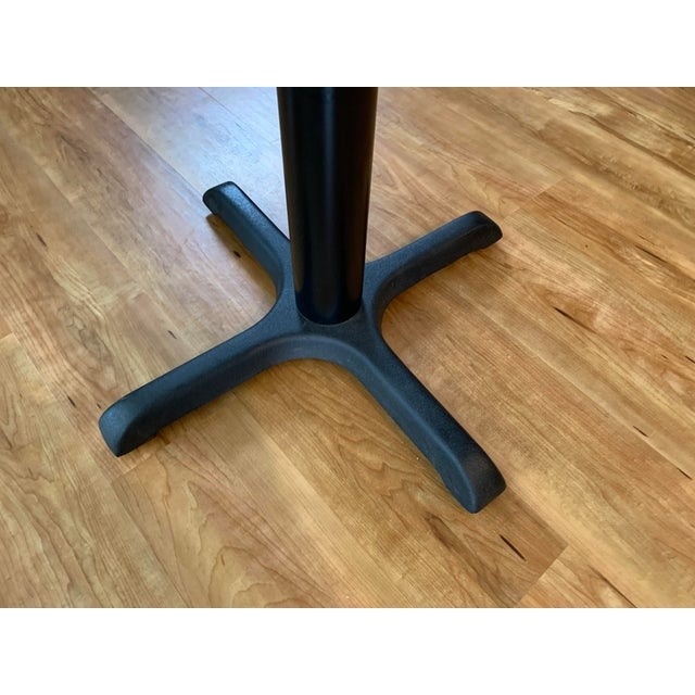 Vintage Mid Century Modern Painted Metal Pedestal Cafe Table For Sale In Lexington, KY - Image 6 of 9