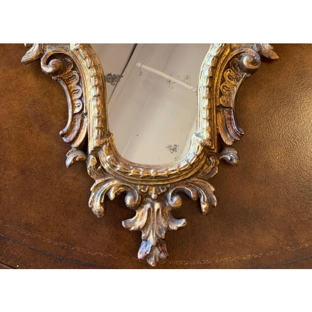 20th Century Italian Rococo Accent Mirrors - a Pair For Sale - Image 11 of 13