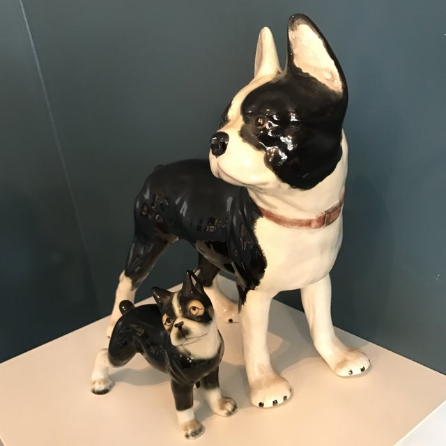 Vintage Ceramic Boston Terriers - A Pair - Image 5 of 5