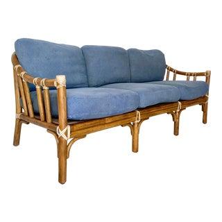 McGuire Rattan Bamboo Sofa For Sale