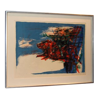 Swedish Abstract Lithograph by Leif Knudsen c. 1962 For Sale