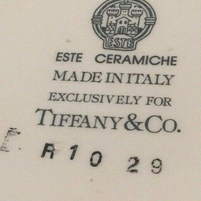 Mid-Century Modern Vintage Este Ceramiche Tiffany & Co. R1029 Walnut Nut Bowl & Lid, Cobalt, Signed For Sale - Image 3 of 4