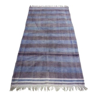 Antique Flatweave Dhurrie Rug - 3′2″ X 6′7″ For Sale