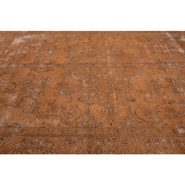 "1940s Apadana - Vintage Overdyed Rug, 12'6"" X 9'4"" For Sale - Image 5 of 6"