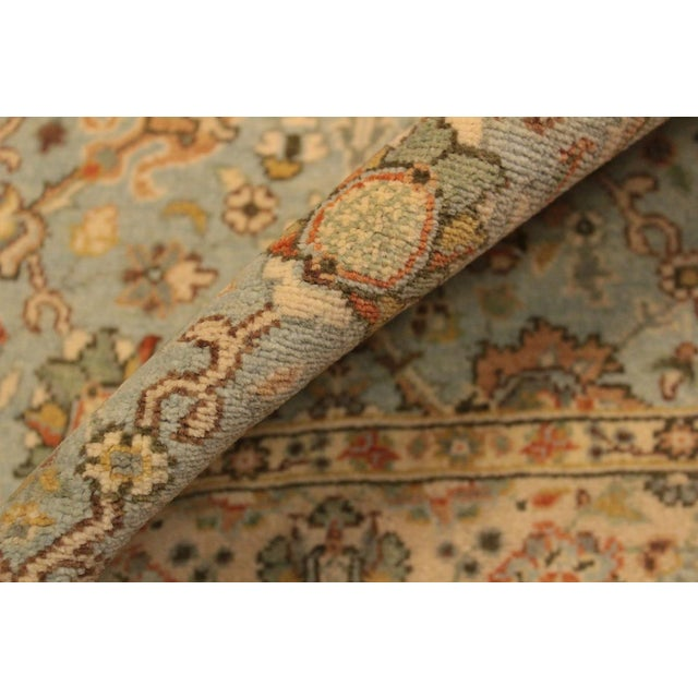 Shabby Chic Istanbul Archie Blue/Ivory Turkish Hand-Knotted Rug -3'1 X 5'0 For Sale - Image 4 of 8