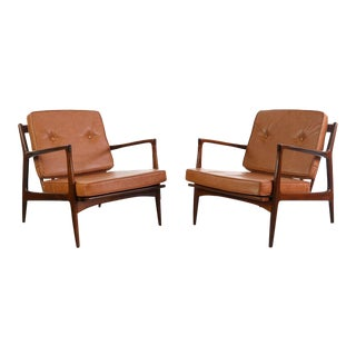 Mid Century Modern b Kofod-Larsen for Selig Easy Chairs- A Pair For Sale