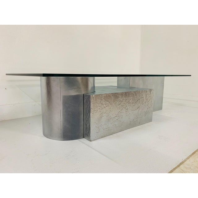 Three-Piece Geometrical Coffee Table For Sale - Image 4 of 8