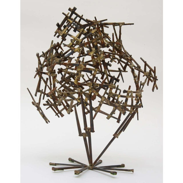 1970s Vintage Brutalist Abstract Nail Tabletop Sculpture For Sale - Image 5 of 11