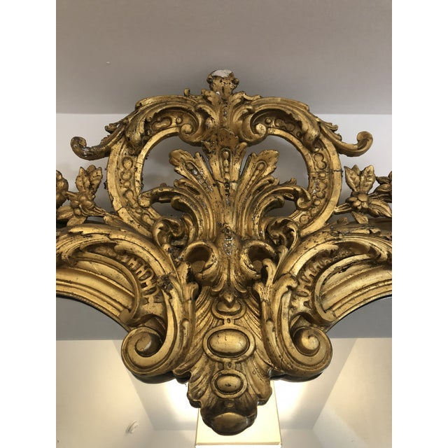 19th Century French Mirror originally made as a mantle mirror to sit above a fireplace. Was part of beautiful home in...