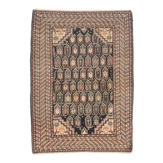 Antique Ivory Fine Persian Malayer Area Rug For Sale