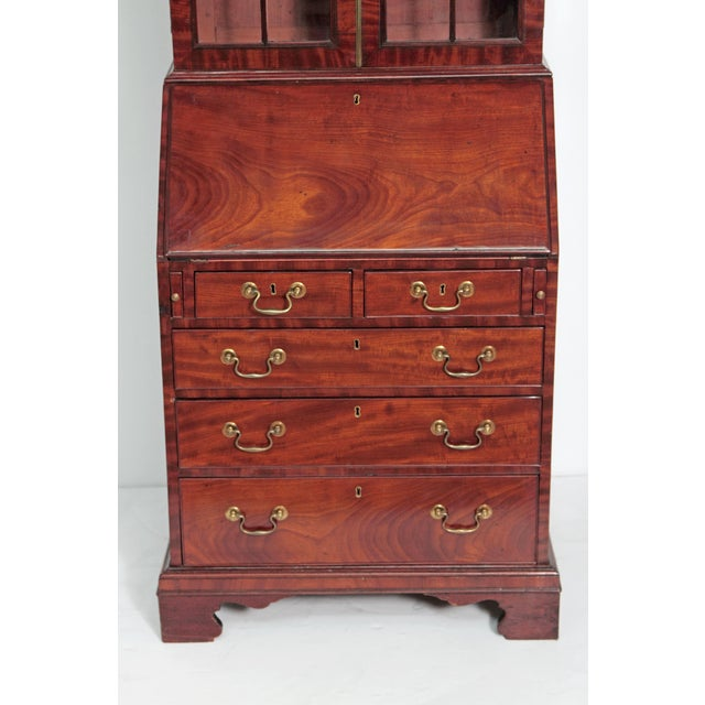 Brown Period George III Secretary Bookcase of Mahogany For Sale - Image 8 of 11