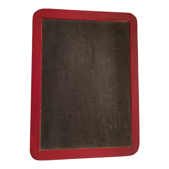 Vintage School House Red Chalk Board - Image 1 of 7