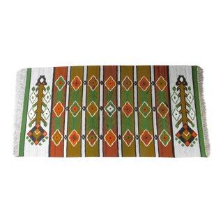 Handmade Wall Hanging Rug Tapestry - 3′3″ × 6′9″