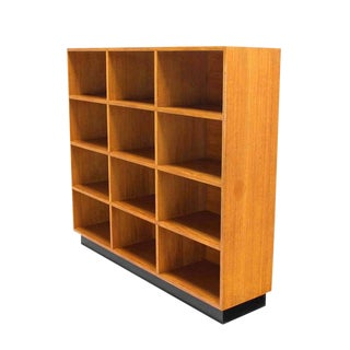 Solid Wood Shelving Unit Bookcase Mid Century Modern For Sale