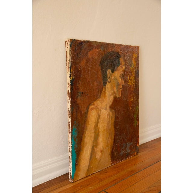 Abstract Expressionism Antique Nude Oil Painting For Sale - Image 3 of 6