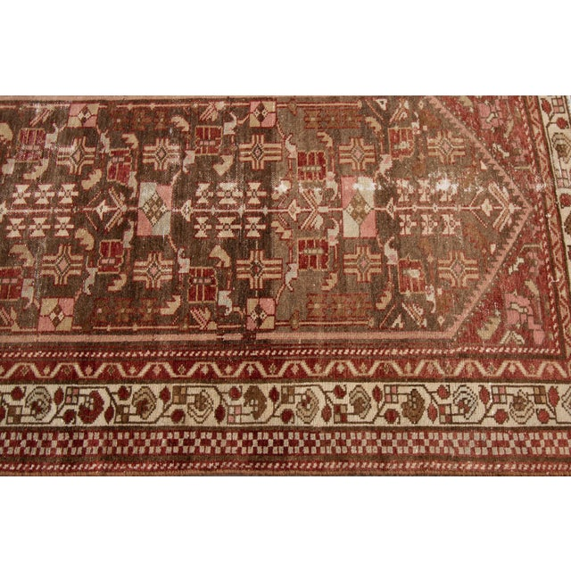 "Textile 1910s Traditional Apadana-Antique Persian Distressed Rug - 2'3"" X 10'0"" For Sale - Image 7 of 11"