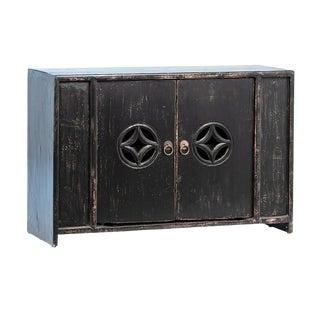 Vintage Black Ming Cabinet For Sale