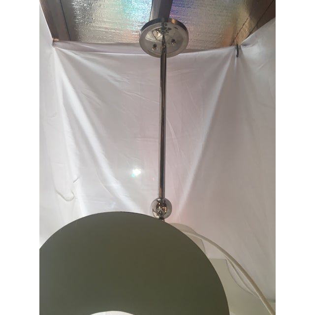 Metal Large Soft Green 4 Light Pendant For Sale - Image 7 of 12