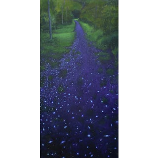 """Petals and Galaxies on the Path"" Painting by Stephen Remick"