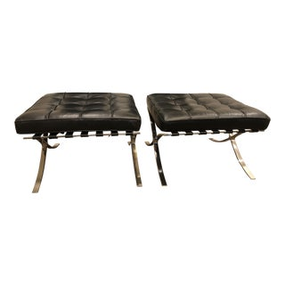 Rove Concepts Square Black Ottomans - A Pair