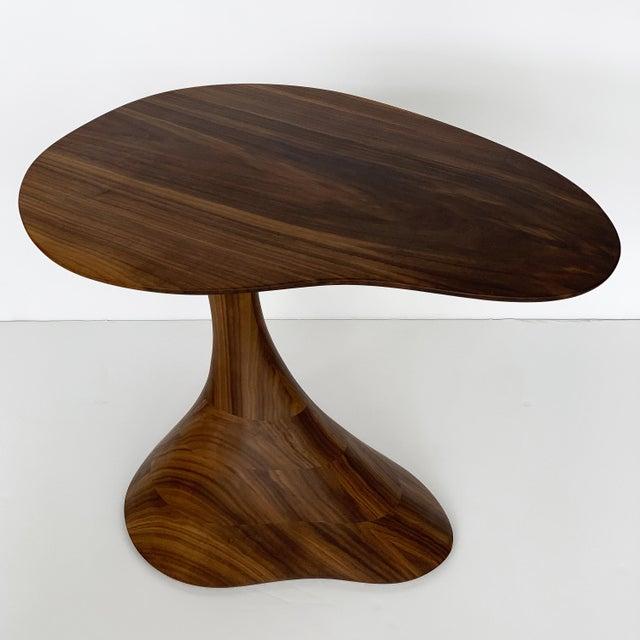 """Sculptural Solid Walnut """"Pedem"""" Side Table Morten Stenbaek - A Pair For Sale - Image 11 of 13"""