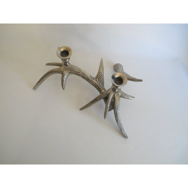 Silver-Tone Antler Candle Holder - Image 7 of 8
