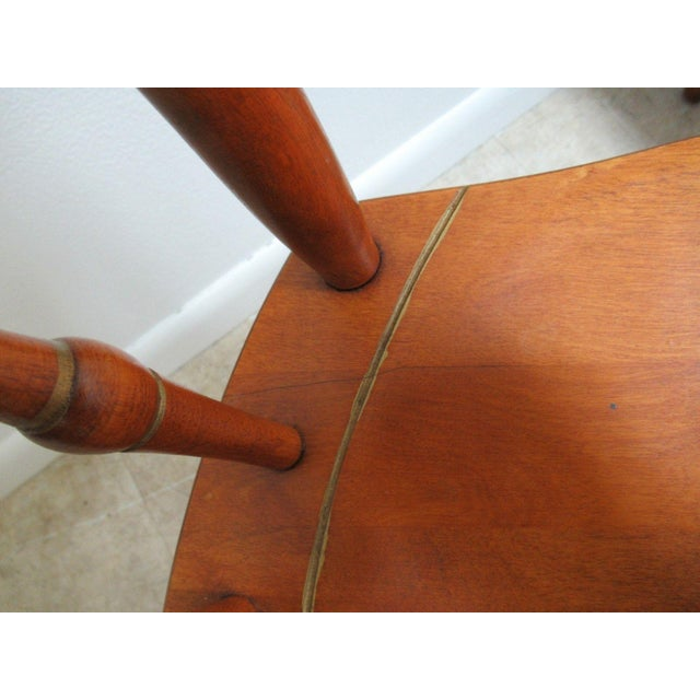 Bent Brothers Plank Bottom Hitchcock Style Dining Chairs - A Pair For Sale - Image 4 of 11