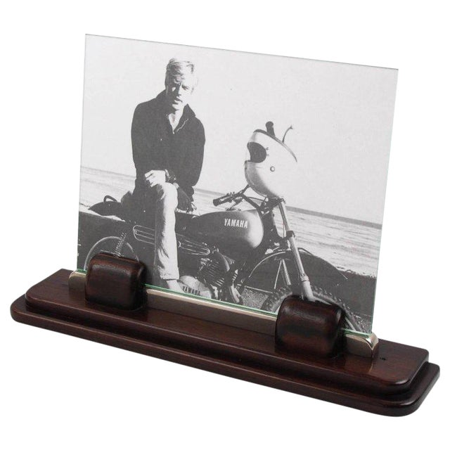 Art Deco Machine Age Macassar and Chrome Picture Photo Frame - Image 1 of 7